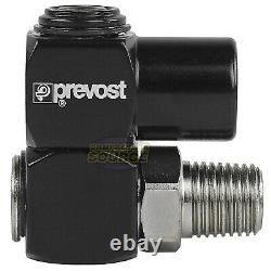 5 Prevost Universal 360 1/4 NPT Compressed Air Flow Tool Hose Connection Swivel