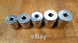 5 pc. SNAP ON Large 1/2 dr Socket Lot SW381 SW421 SW441 SW461 SW481