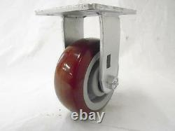 5 x 2 Swivel Caster Total Lock Brk Burgundy Polyurethane Wh & Rigid Tool Box