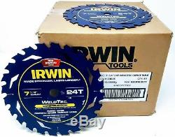 (50-PK) Irwin 24035 14035 7-1/4 Marathon WeldTec Circular Saw Blades