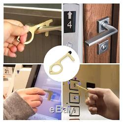 50 Wholesale Key Door Opener Elevator ATM Buttons Keychain No Touch Hand Tool