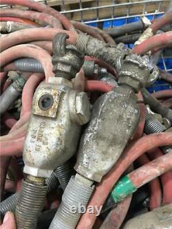 5pc Construction Pneumatic Air Tool Whip Hose & 1/2 NPT Oiler Assy Mixed Set