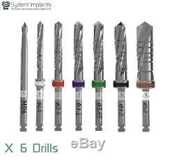 6 Sydent Dental Implant Drills External Irrigation Instruments Tool Internal Hex