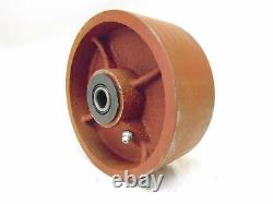 6 x 2 Swivel Caster Ductile Steel Wheel with Brake 1400 lbs Each Tool Box (4)