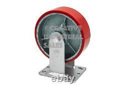 6 x 2 Swivel Caster Polyurethane on Steel Wheel with Brake (2) Rigid (2)Tool Box