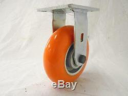 6 x 2 Swivel Caster with Brake apex Polyurethane Wheel (2) & Rigid (2) Tool Box