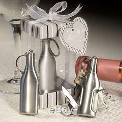 60 Silver Stainless Steel Bottle Bar Tools Wedding Bridal Shower Party Favors