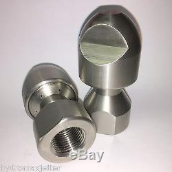 6R LOT of 2 RPD High Efficiency 1/2 Nozzle Sewer Jetter 4000 PSI 6R 18 GPM NTP