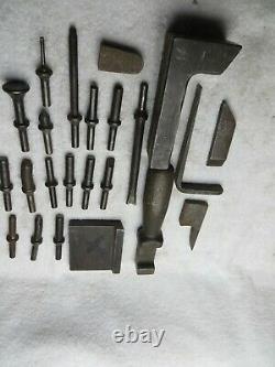 7 ea RIVET BUCKING BAR Aircraft Machine Tools Sheet metal and 16 rivet sets