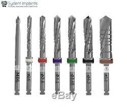 8 Sydent Dental Implant Drills External Irrigation Instruments Tool Internal Hex