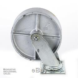 8 x 2 Swivel Casters with Steel Wheel /Rigid 1400lb ea Heavy Duty Tool Box