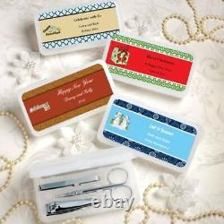 96 Personalized Themed Manicure Sets In Case Wedding Bridal Shower Party Favors