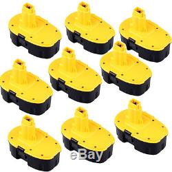 9pcs 18 VOLT 2.0AH NICD REPLACEMENT BATTERY PACK FOR DEWALT 18V CORDLESS TOOLS