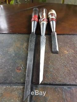 Antique Chisel Lot of 20 Early Woodworking Tools W. Butcher, GI Mix&Co And More