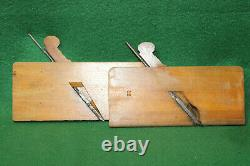 Antique Vintage Matching Pair 1/4 Hollow & Round Moulding Planes Inv#IG01