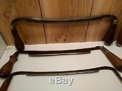Antique drawknives lot of 10 for use, parts, repair Geo. Parr, Henry Boker