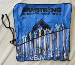 Armstrong Tools 11 Pc. 12 Point SAE Full Polish Flex Head Combo Wrench Set