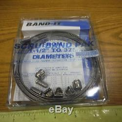 BAND-IT IDEX 3/8 Clamp Making Kit (5/LOT!) 10 Ft/3.05M 5 Band Locks SCRU-BAND