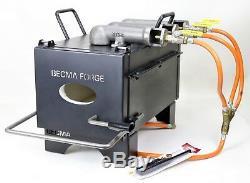 BECMA tripla bruciatore Gas Forge, stufa a gas fino a 1350°C, GFR. 6 neo III