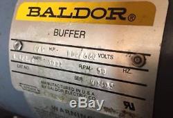 Baldor 1/3 HP Polishing Polisher Lathe Buffer Grinder Table Top Mount 3000 RPM