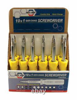 Best Way Tools 10-in-1 Screwdriver 8 in. (Pack of 12)
