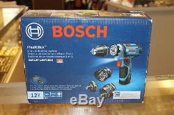 Bosch GSR12V-140FCB22 12V Max Flexiclick 5-In-1 Drill/Driver System Cordless NEW