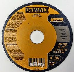 (Box of 100) Dewalt DW8062A 4-1/2x. 045x7/8 T1 Aluminum-Cutting Cut-off Wheels