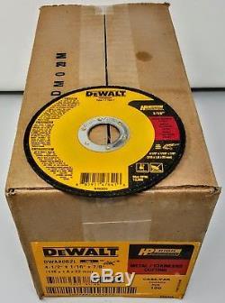 (Box of 100) Dewalt DWA8062L 4-1/2x1/16x7/8 T1 Metal-Cutting Cut-off Wheels