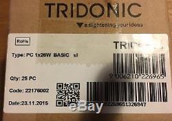 Box of 25 X TRIDONIC DIGITAL BALLAST PC 1x26 WATT LINEAR 2D/PL 26With28W 22176002