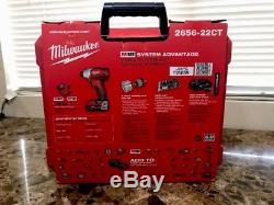 Brand New Milwaukee M18 2656-22ct Cordless 1/4 Hex Impact Driver Kit Xc 5.0