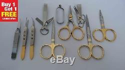 Buy 1 set Get 1 set FREE Fly fishing tweezers nippers scissors set of 10 pieces