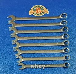 CLASSIC 8pc ARMSTRONG USA LONG SAE COMBINATION WRENCH SET 9/16 TO 1 VINTAGE LOT