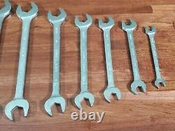 CLASSIC BONNEY 9pc OPEN END METRIC WRENCH SET 10MM TO 32MM SHIPS FREE TOOL LOT