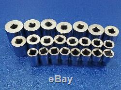 CLASSIC EASCO USA METRIC 1/2 DRIVE SOCKET SET 9mm thru 32mm FREE SHIPPING Lot