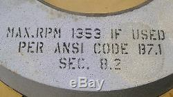Cincinnati surface grinding wheel 24 x 3 x 12 arbor hole 3MSB801-18-VSAE NEW