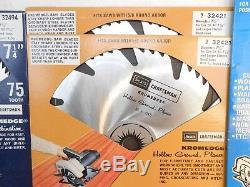 Circular saw blade assortment by Craftsman, inc. Adj. Dado, 13 pcs