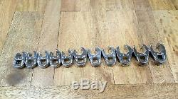 Classic 3/8 Drive SK METRIC Flare Nut Crows Foot Wrench Set 9mm 19mm USA made