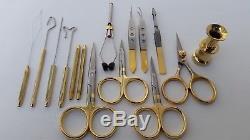Complete Set of Fly Tying Tools Scissors + Tweezers +Dubbing Tools Set of 14 Pcs