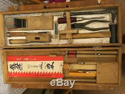 Complete set of vintage Japanese woodworking tools RARE