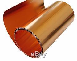 Copper Sheet 10 mil/ 30 gauge tooling metal roll 18 X 8' CU110 ASTM B-152