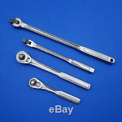 Craftsman Lot of 4 Tools 3/8 Ratchet / Breaker Bar and 1/2 Ratchet / Breaker Bar