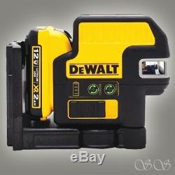 DEWALT DW0825LG 12V 5 Spot + Cross Line Laser, Green