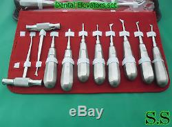 Dental Instrument Extraction Pedo Adult Forceps Elevators Tool set of 55pcs