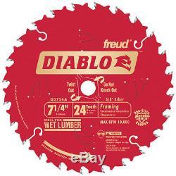 Diablo D0724W 7-1/4 24T Diablo Worm Drive Circular Saw Framing Blade PK 10