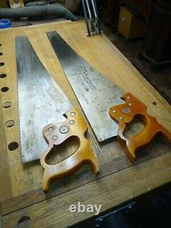 Disston D8 Hand Saws, 51/2 pt. Rip & 10pt Cross cut