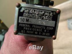 Federal Grinding Gage Arnold gauge Crankshaft Grinder Micrometer 5 8 carbide
