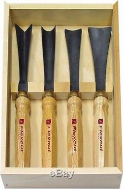 Flexcut 4 Pc Sculptor's Set FLEXMC175 Woodcarving Tools Wood is Good Mallet 18oz