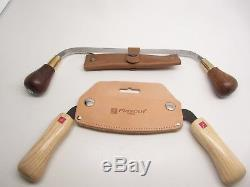Flexcut & Ramelson Wood Carving Tools Draw Knife Set 2 Pc Woodworking