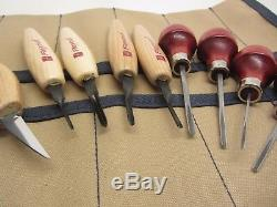 Flexcut Wood Carving 60 Deg Parting Tools Knife Set & 4 Ramelson Palm V Tools