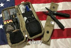 GERBER MULTI-TOOL & OTIS RIFLE CLEANING KIT With POUCH MILITARY ISSUE MADE IN USA